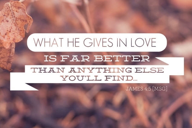 what he gives in love